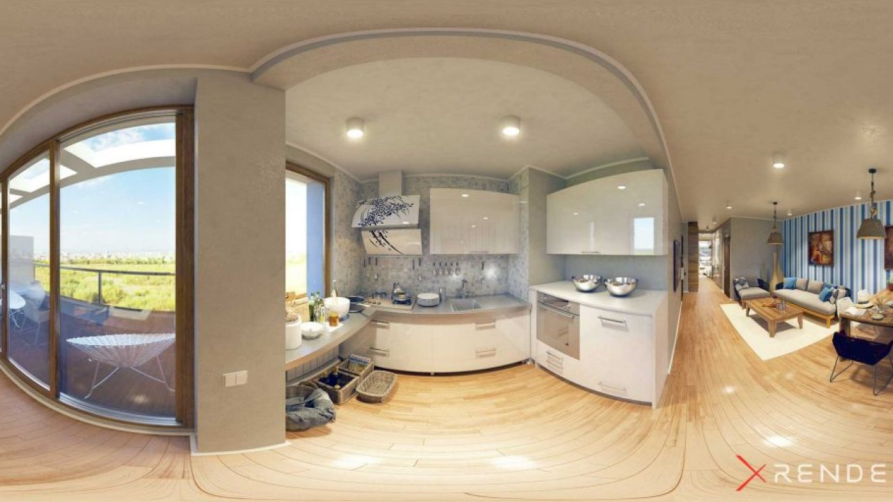 360 Render of a interior design project