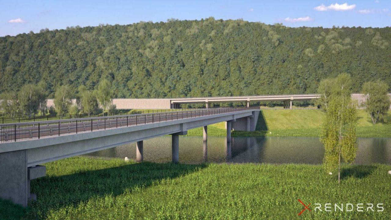 3D Render of a bridge